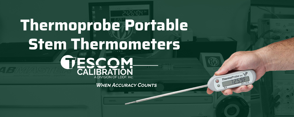 Thermoprobe Portable Stem Thermometers Calibration